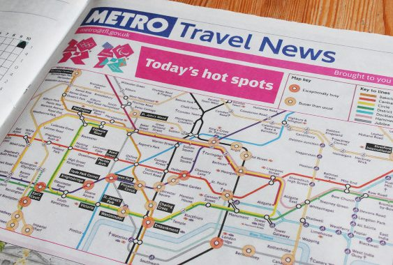 Transport for London: Metro newspaper